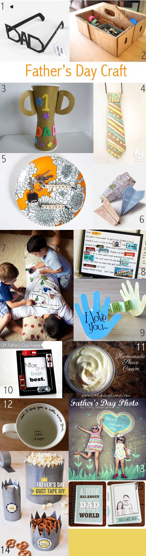 Really great crafty round-up from kidstylefile.com.au :: Father's Day is almost here, being celebrated in Australia this year on Sunday 1 September. It's definitely time to make a move on what the kids can do this yea