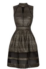 Oasis high neck Aztec gold and black dress - my guest outfit for a New Years Eve wedding :)