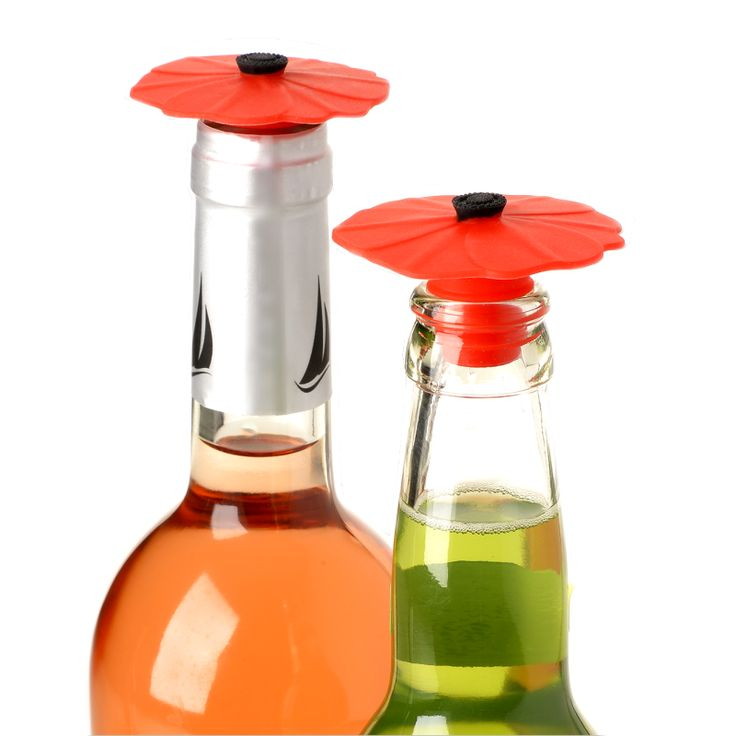 The CHARLES VIANCIN® silicone bottle Stoppers  is a fun and functional accessory that is perfect for keeping an open bottle's contents fresh.  Simply twist the  bottle Stoppers  into the neck! An essential accessory for the wine lover and an unique gift for any occasion. Sold in sets of 2.