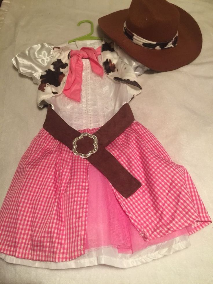 Girls Cowgirl Costume Outfit 12/14  | eBay