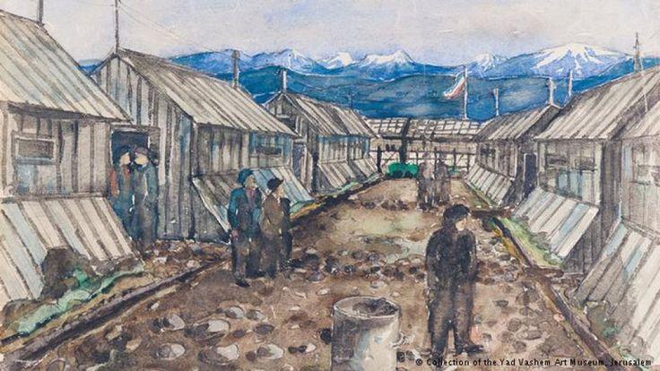 Pinturas de las personas que vivieron el horror de los campos de concentración durante años.