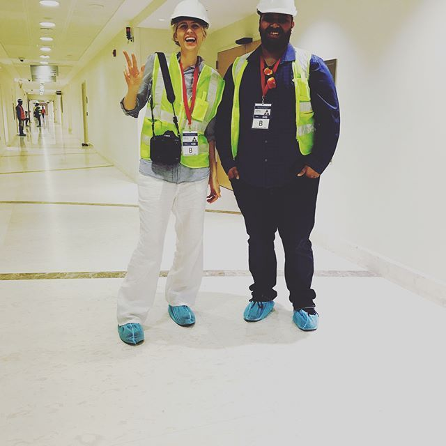 Who said photography was glam ! Certainly not me and Abrar this morning shooting the incredible new 5 star hospital Sidra after several security checks & briefings ! #qatarphotographer #qatarphotoinstagram #qatarphoto #sidra #sidrahospital #qatar #qatari
