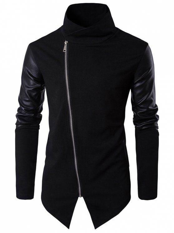 Up to 80% OFF! Asymmetrical Zip Faux Leather Panel Pullover Top.#Zaful #hoodies Zaful, zaful outfits, zaful sweater, zaful men, mens top,men fashion, man sweatshirts, man hoodies,man outfits, hoodies men swag, hoodies men pullover, jackets men, t-shirts,long sleeve t shirts,v neck t shirts, denim jacket, winter outfits, winter fashion, fall fashion, fall outfits, Christmas, ugly, ugly Christmas, Thanksgiving, gift, Christmas hoodies, Black Friday, Cyber Monday @zaful Extra 10% OFF…