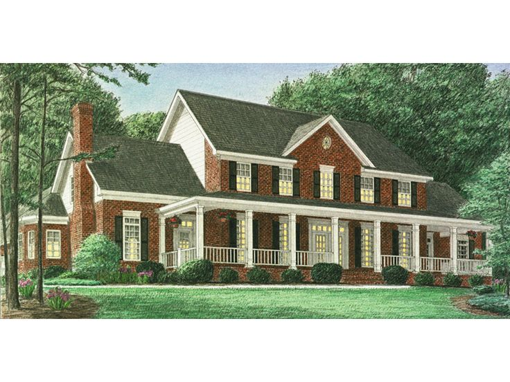 The Hindmann Southern Farmhouse has 4 bedrooms, 3 full baths and 2 half baths. See amenities for Plan 025D-0059.
