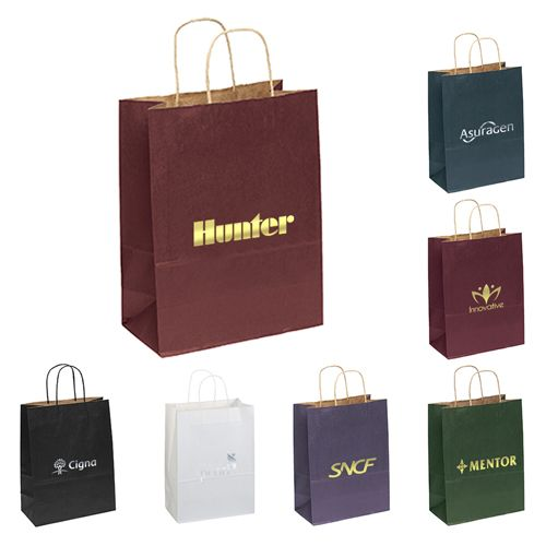 Get Free Shipping on Best Seller's Promotional Dorothy Matte Paper Shopping Bags.   #EcoFriendlyBags #CustomBags #BestSeller