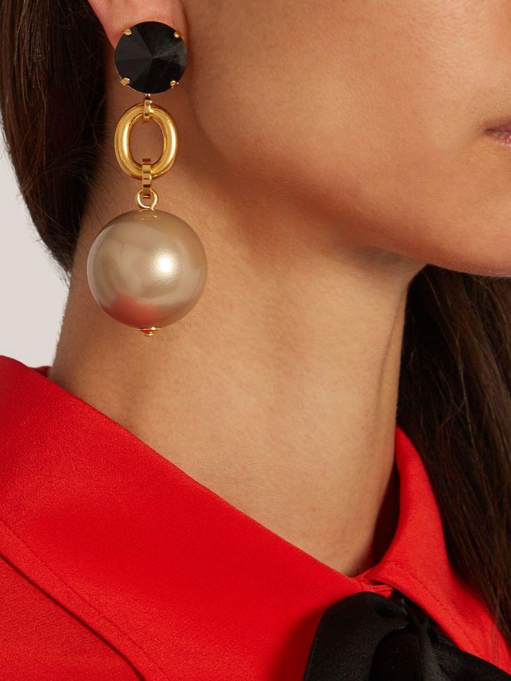 Ball-drop clip-on earrings | Marni | MATCHESFASHION.COM UK