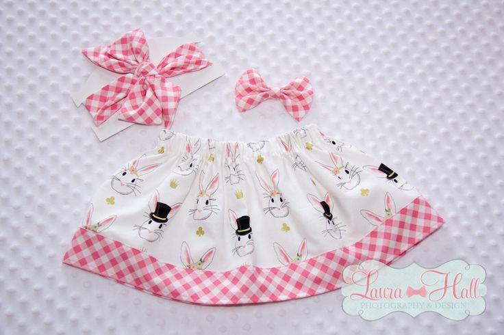 Girls SKIRT -  EASTER skirt, Bunny skirt, girls easter skirt, easter dress, easter pink metallic gold skirt, girls easter dress, bunny dress by LuLaBellsTutus on Etsy https://www.etsy.com/listing/510887781/girls-skirt-easter-skirt-bunny-skirt