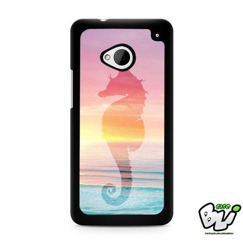 Sea Horse The Ocean Sillohuette HTC G21,HTC ONE X,HTC ONE S,HTC M7,M8,M8 Mini,M9,M9 Plus,HTC Desire Case