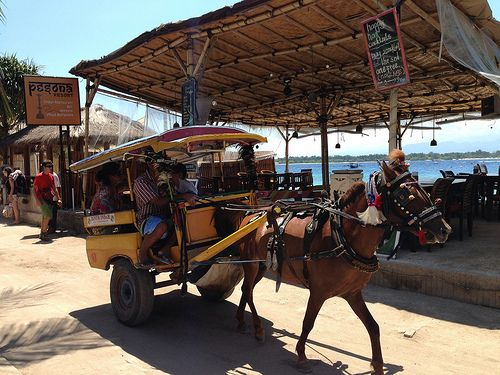 local transport, Gili Islands, Indonesia