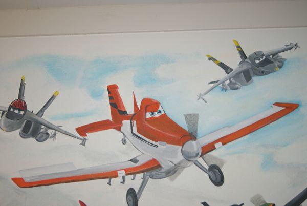 Disney Panes muurschildering  www.janetedensmuurschilderingen.nl