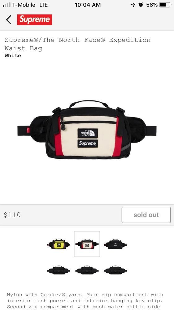 dbfe4472fc Supreme The North Face Expedition Waist Bag (white)  fashion  clothing   shoes  accessories  mensaccessories  bags (ebay link)