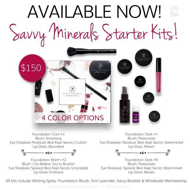Calling all beauty lovers! Switch to Savvy. Natural mineral makeup, cruelty-free. Your skin is your largest organ...feel confident without compromising your health. Clean cosmetics free of parabens, phlatates, bismuth, talc, synthetic dyes or fragrances, and animal testing. Get everything you need plus wholesale essential oils membership with this new Savvy Minerals Starter Kit today!
