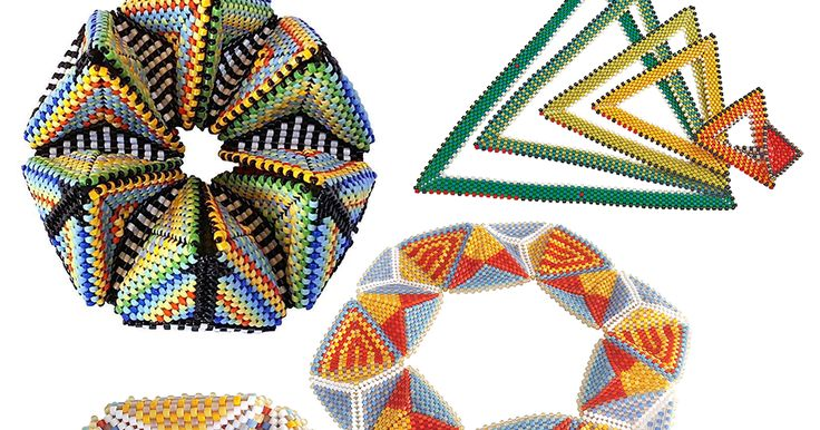 https://1.bp.blogspot.com/-aLGrfc_R5sY/WamDSUYBfmI/AAAAAAAALJU/0g9yupl2zUwAdaHgdFndNc6vieU-MfvNwCEwYBhgL/s640/triangles.png Contemporary Geometric Beadwork with Kim Van Antwerphttp://www.notyourgrandmothersneedlepoint.com/2017/09/contemporary-geometric-beadwork-with.html You all know I love beads. Not only do I love beads I love all things beady. There are many bead artists who are exploring beadwork that is made from geometric shapes. It's all one stitch peyote. It can be triangles or…