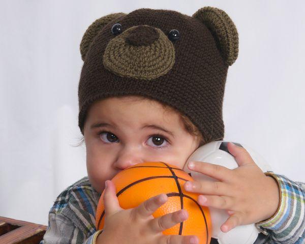 Free Crochet Bear Ear Hat Pattern : bear hat Crochet: Kids Wearables Pinterest