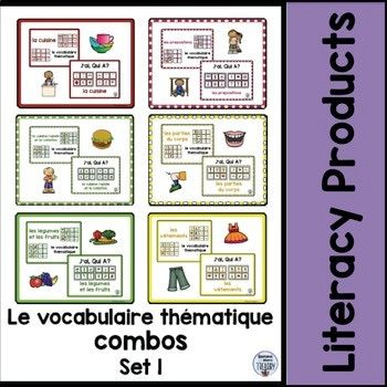 le vocabulaire thematique combos - Set 1 Bundle