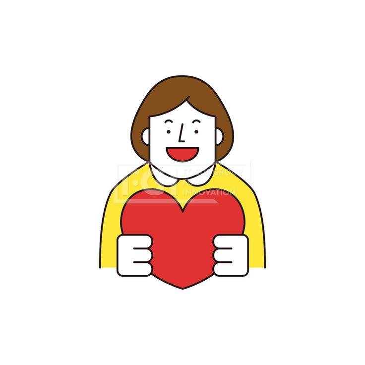 ILL161, 프리진, 일러스트, 생활, 사람, ILL161, 캐릭터아이콘, 캐릭터, 인물, 손짓, 상반신, 손가락, 핸드모션, 동작, 청년, 여성, 여자, 이벤트, 하트, 사랑,#유토이미지