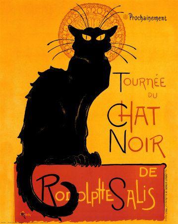 """PG088 """"Tournée du Chat Noir"""" Poster by Theophile Alexandre Steinlen (1896)"""