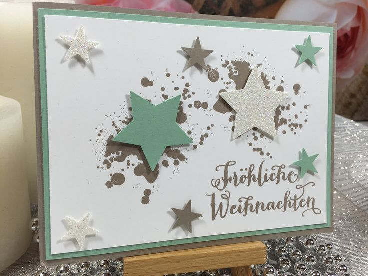 weihnachtskarte stampin 39 up handarbeit von stempelrose auf weihnachten und winter. Black Bedroom Furniture Sets. Home Design Ideas