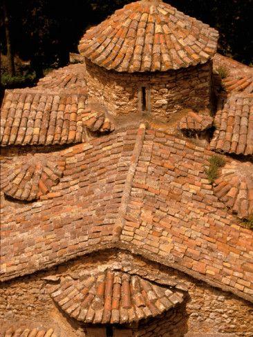 Tile Roof, Karitena, Peloponnese, Central Arcadia, Greece