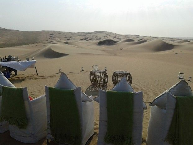 Sundowners in the dunes above Serra Cafema #Namibia