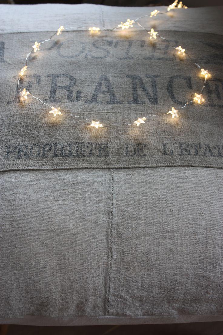 """Coussin chanvre, """" La Poste France """".(Réalisable également sur mesure ) / Le Grenier de Ninon"""