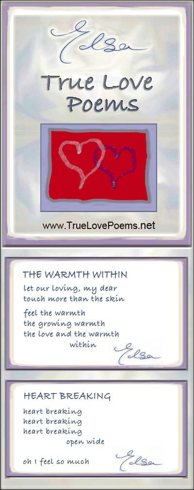 True Love Poems. Deep Simple Passionate Love Poems