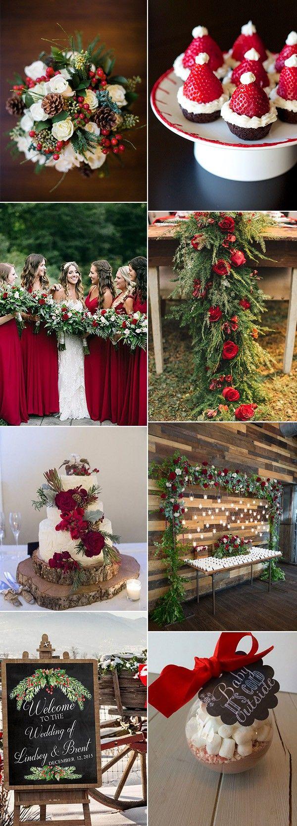 Christmas themed wedding ideas for winter