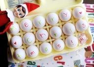 funny elf on the shelf ideas,, Great idea when  Baba makes breakfast.