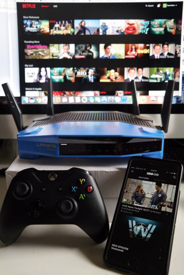Linksys makes the best gaming router on the market. The WRT3200ACM takes on gaming, streaming, uploading and more with no problem.