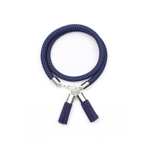 Blue tassel bracelet. Rope bracelet. Rope jewelry. by casseljewelry #fashion #handmadejewelry #handmade #jewelry #unique #design #casseljewelry #fashionjewelry #jewelrydesign #etsy #ShopEtsy #EtsyFinds #EtsyForAll