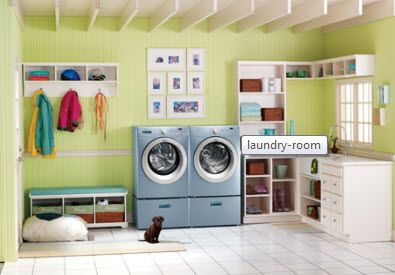 Oh my heck! I would LOVE to have a laundry room this big!