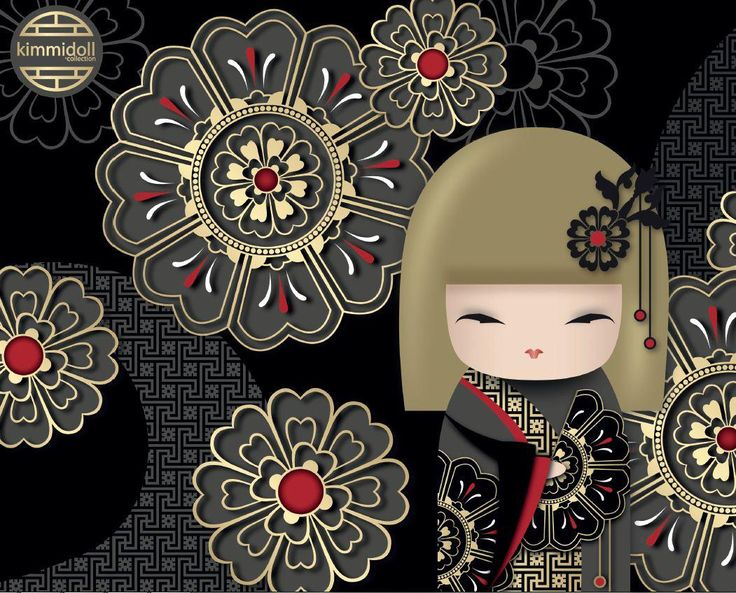 "✿ Kimmidoll Illustration ~ ""Hiro"" 'Generosity' ✿ ""My spirit is perceptive and helpful. Your perceptiveness in noticing the needs of others and your desire to help in any way you can reveals a spirit of generosity. May your generous nature bring fulfillment to your life and peace to all the lives you touch."""