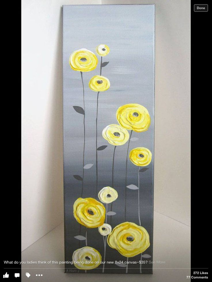 yellow poppies acryl pinterest leinwandbilder acryl und malen. Black Bedroom Furniture Sets. Home Design Ideas