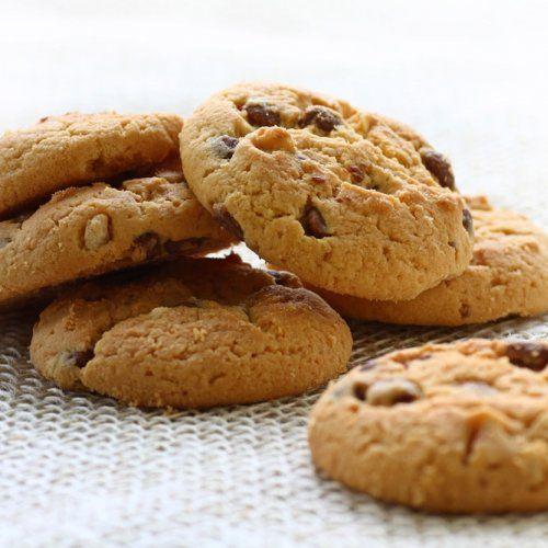 Biscuits aux pois chiches, noisettes et chocolat