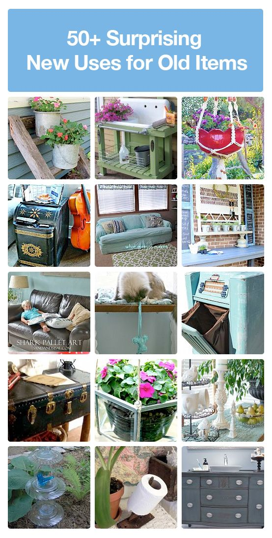 50 diy projects for repurposing and reusing old items for Diy crafts with things around the house