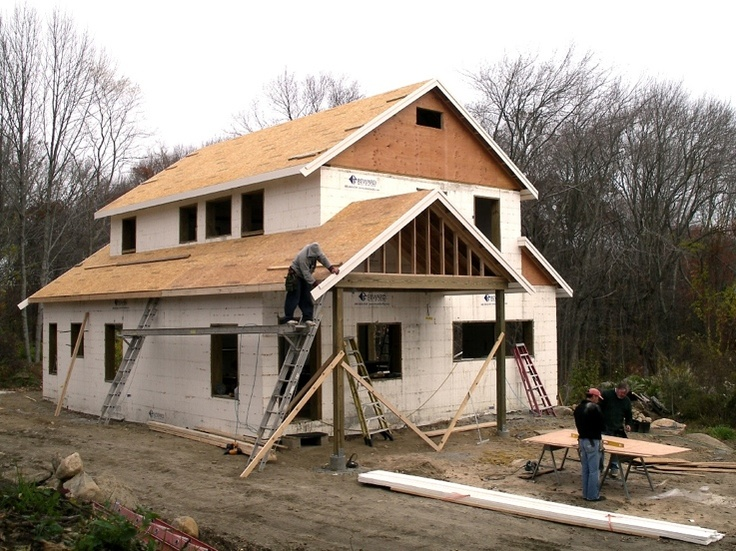 38 best icf images on pinterest insulated concrete forms for Icf concrete roof