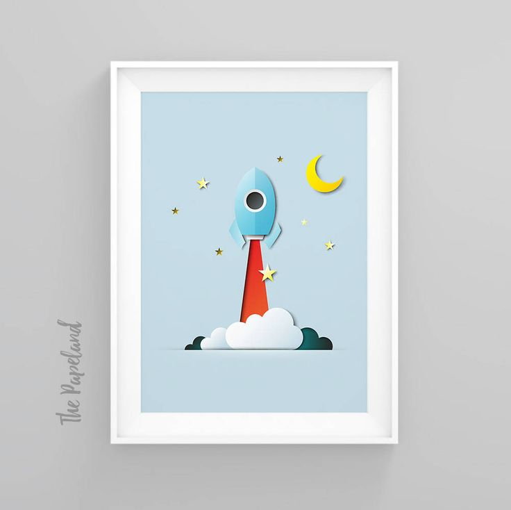 Rocket Printable poster, Boys Room Decor, Nursery wall art, Rocket print, Rocket Ship Print, Instant download print, Digital Download Art by ThePapeland on Etsy