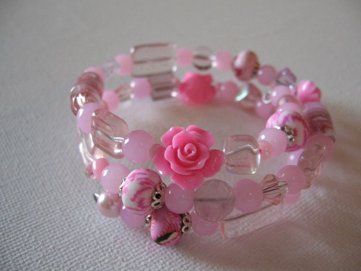 pretty in pink - wrap around bracelet
