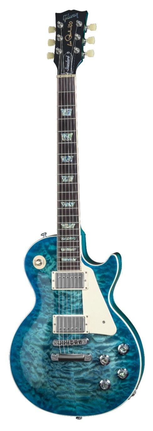 Gibson 2015 Les Paul Standard Premium Quilt Ocean Water Perimeter