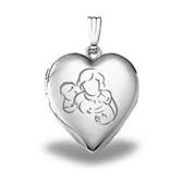 Pictures on Gold Sterling Silver Heart Locket US/Can 5/26