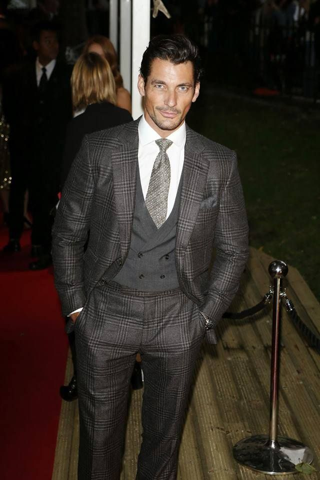 David Gandy attending the Glamour Awards, June 2014. Wearing a suit by Tom Ford.