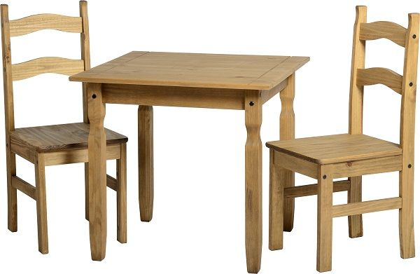 sales@spt-furniture.com Rio Dining Set Distressed Waxed Pine  Assembled Sizes(MM) 800 x 800 x 750 405 x 470 x 990   PINE Extra Information TABLE: TOP THICKNESS 20MM LEG THICKNESS 55MM HEIGHT OF FRAME H635 CHAIR: SEAT PAD SIZE W405 D455 SEAT PAD HEIGHT H450 BACKREST HEIGHT H540