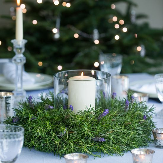 Rosemary & Lavender Table Wreath