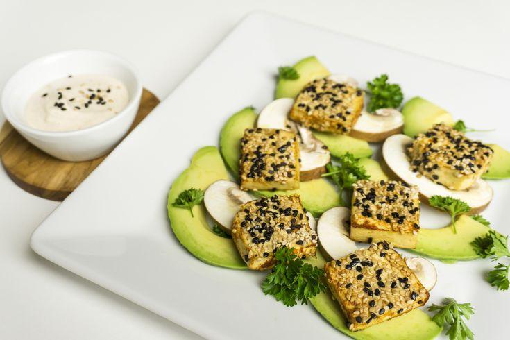 Crispy Sesame Tofu Squares