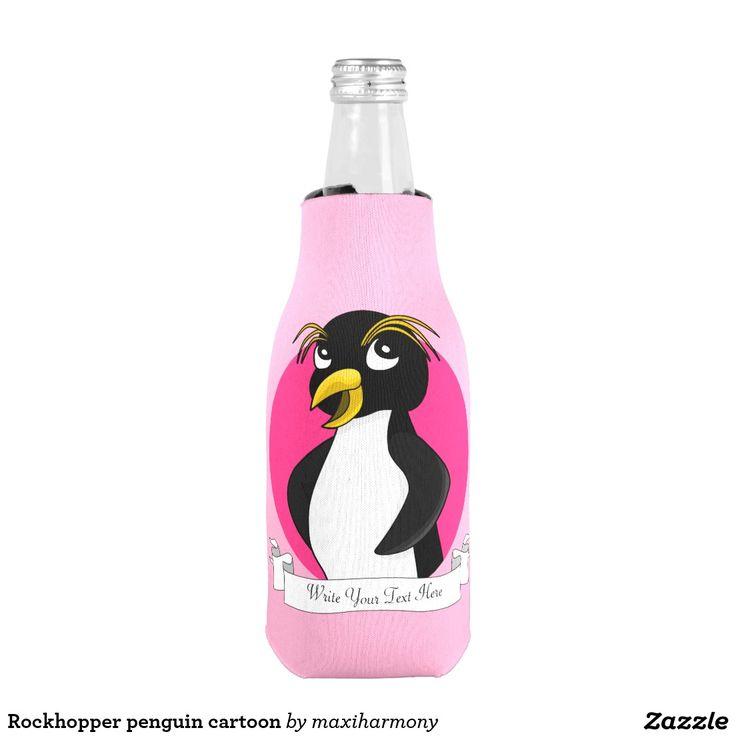 Rockhopper penguin cartoon bottle cooler