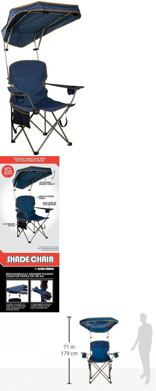 Camping Furniture 16038: Folding Portable Chair With Sun Shade Canopy For  Patio Outdoor Beach Camping