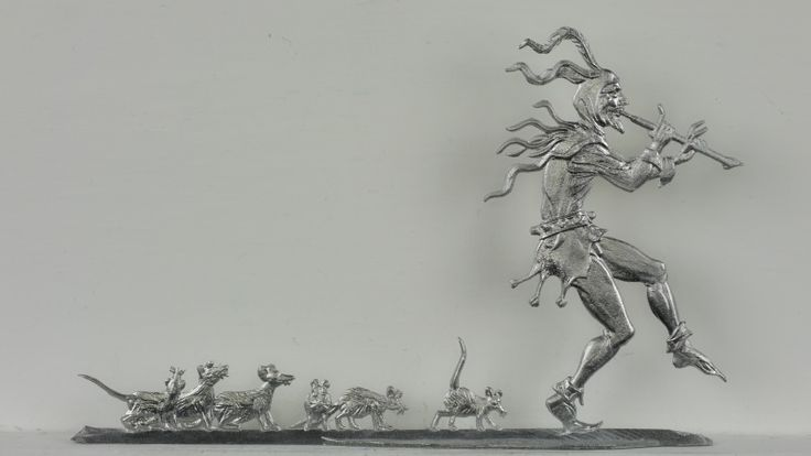 Der Rattenfänger von Hameln, beidseitig graviert, Höhe= 65mm