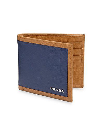 Prada - Saffiano Frame Compact Billfold Wallet - Saks.com