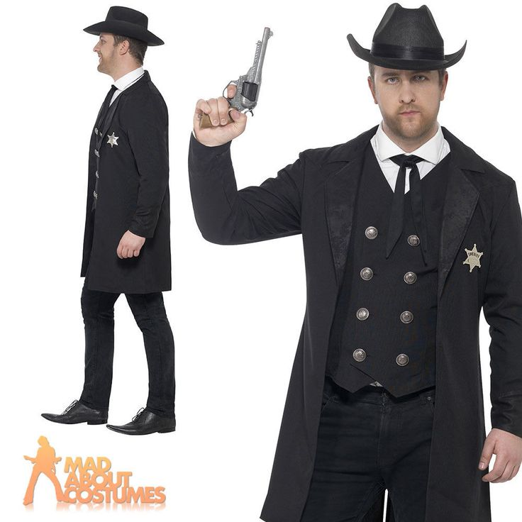 Adult Plus Size Sheriff Costume Mens Wild Western Fancy Dress Outfit New