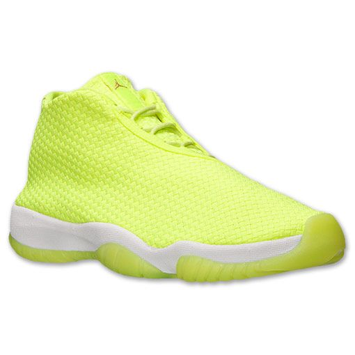 Men's Air Jordan Future Flight Basketball Shoes. With a futuristic look and feel, the Air Jordan Future is a versatile sneaker for the court or the streets. Boasting a one-piece upper that's woven for a standout look, these kicks are head-turners no matter where you are. Building on the minimalistic trend in running and casual shoes, the Jordan Future has a sleek, less-is-more vibe, thanks to the lack of a heel counter. Plus, a full-length Max Air unit adds a cushy, plush feel to every…